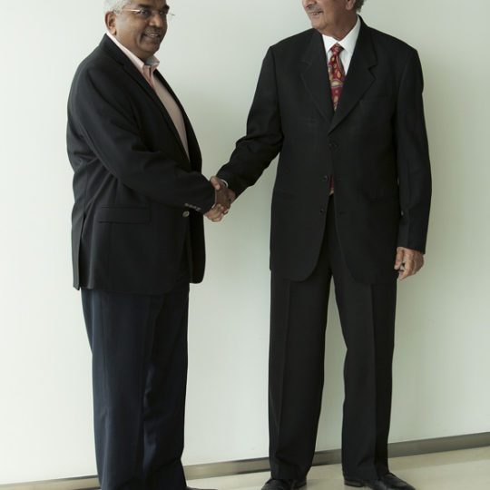 QUITE A 'MASS'IVE HANDSHAKE_AN PRAKASH AND BRIGADE JAISHANKAR